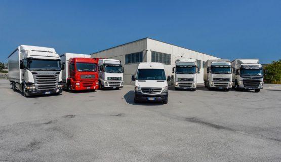 La flotta di Autotrasporti Rosini