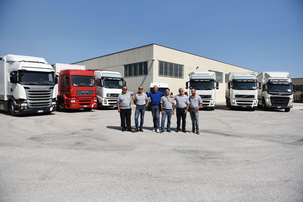 La squadra Autotrasporti Rosini